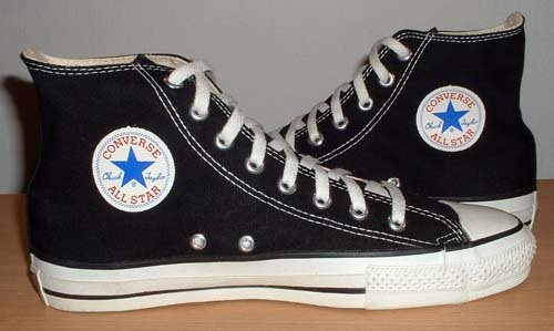 1990s black high top chucks