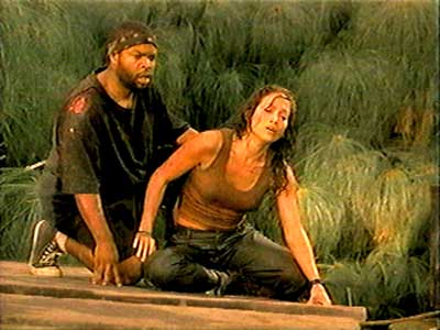 Danny rescues Terri from the anaconda