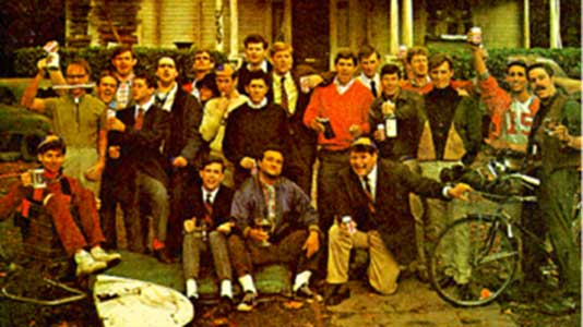 The members of Faber College's Delta fraternity house like to party