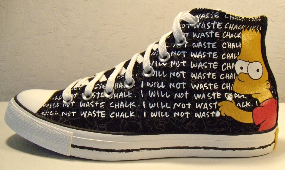 converse chuck hi all star the simpsons