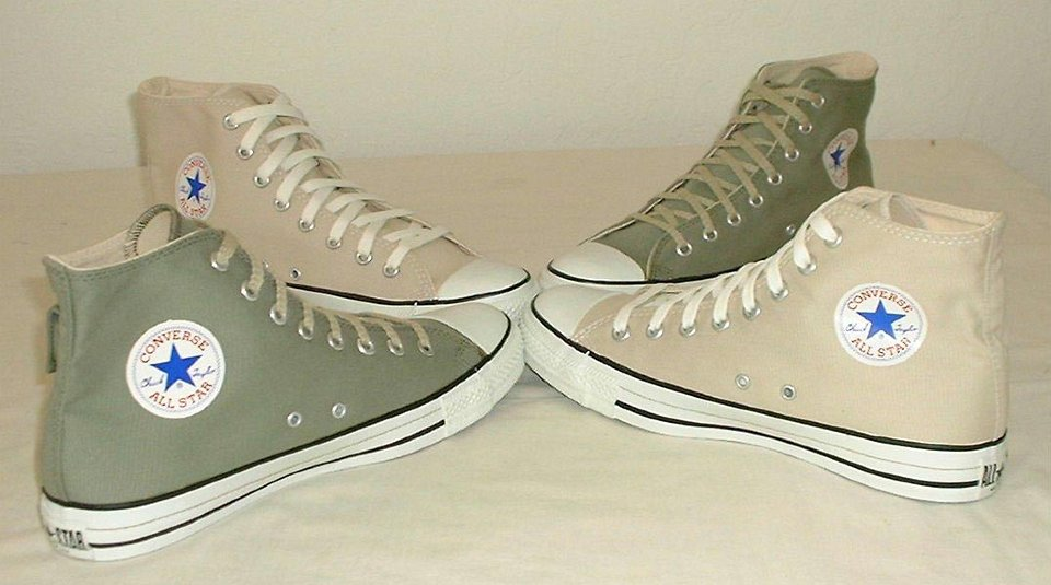 c453ddc0691e 2 Cargo High Top Chucks Olive green and khaki cargo high tops