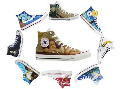 famous artwork on chucks
