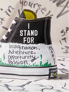I Stand for Chucks shoe closeup
