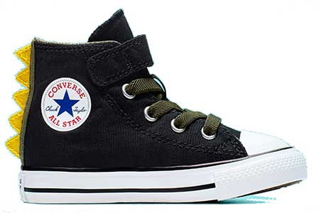 black dinoverse high top