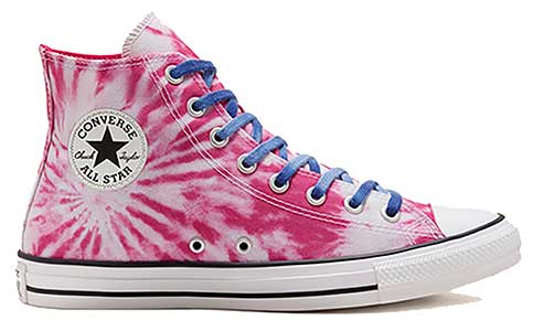Pink twisted vacation high top