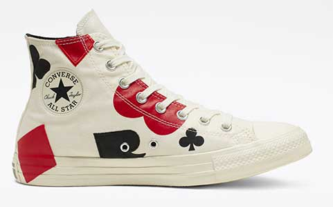 Queen of Hearts white high top