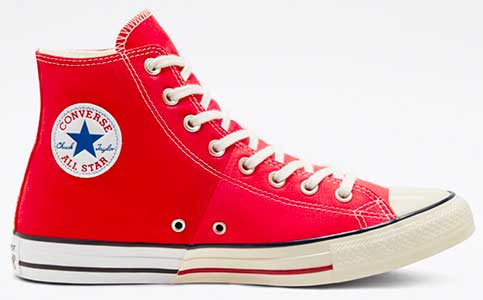 Red Reconstructed high top