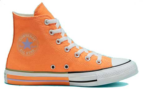 Sunblocked high top chucks