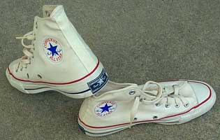 vintage white high top chucks