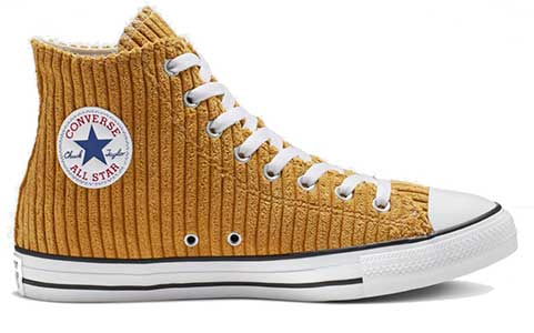 Wheat wale corduroy high top
