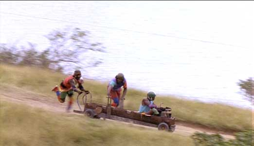 The newly formed bobsled team begins to practice