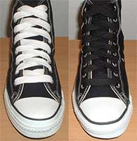 wide shoelaces on chucks
