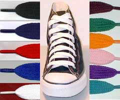 Fat or wide shoelaces are a new look in lacing for your chucks.