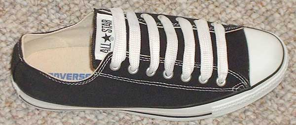 Wide laces give your chucks a different look.