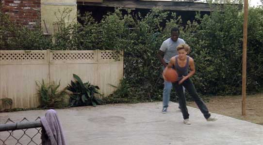 Jeff and Agent Roy Parmenter play some basketball