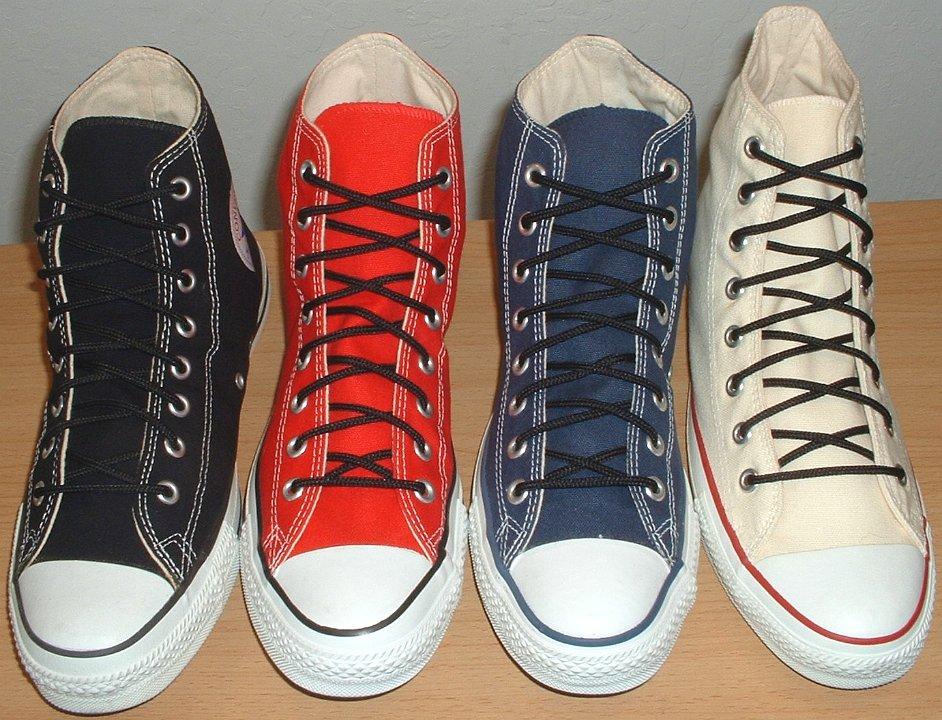 232670de08711 Narrow Round Shoelaces on Chucks