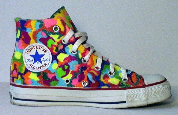 e9caea505a64 7 Hand Painted or Tie-Dyed High Top Chucks Custom painted white high top