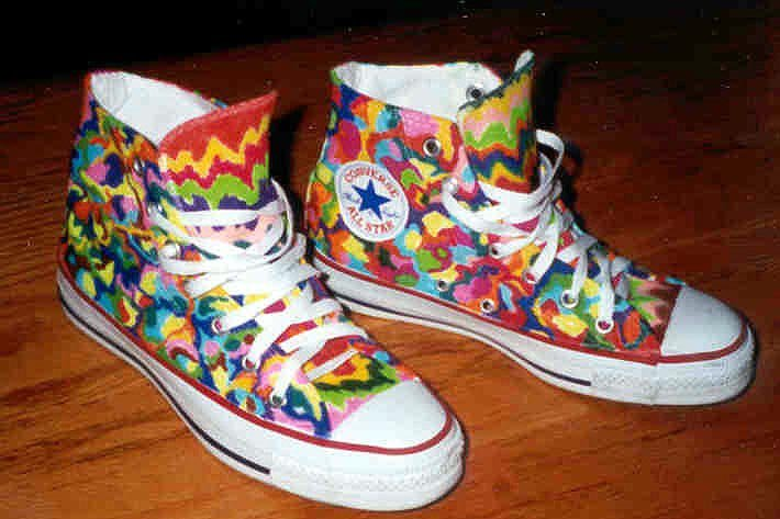 e7a05af0ca62 8 Hand Painted or Tie-Dyed High Top Chucks Custom painted white high tops
