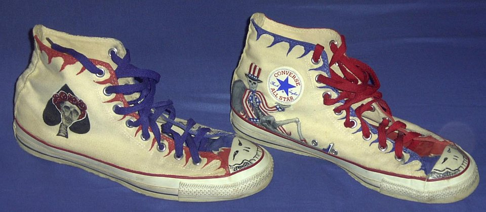 2def1aec9943 21 Hand Painted or Tie-Dyed High Top Chucks Custom painted chucks