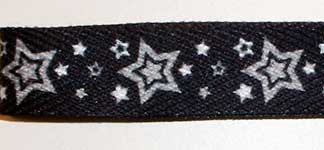 Silver Star Print Shoelace